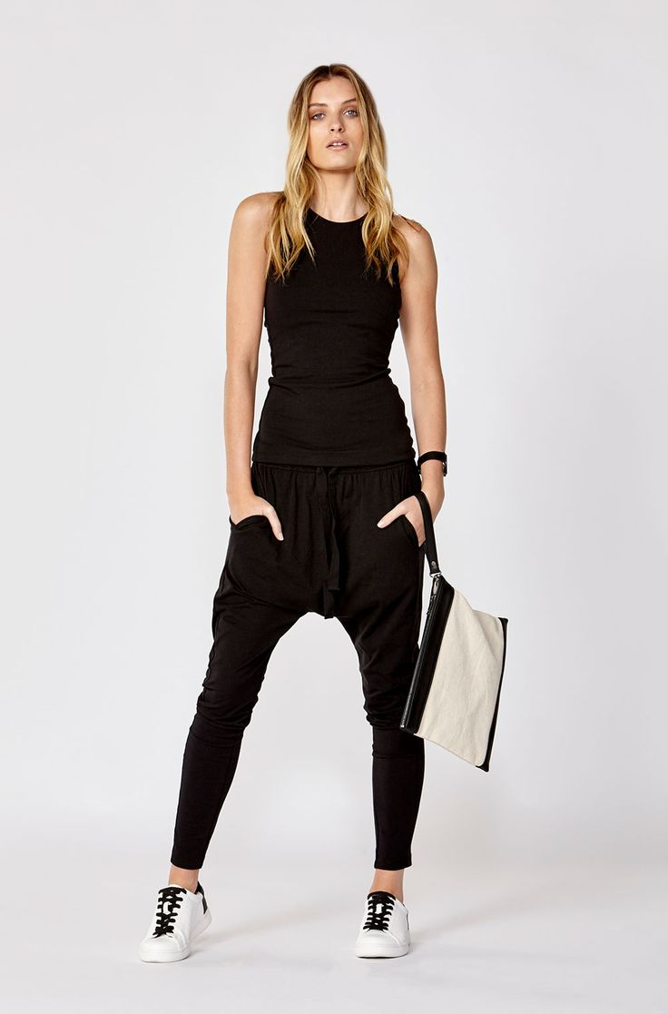These best selling styles are the latest in offering effortless style with an edge. Shop the Luxe Drop Crotch Pant in store and online now!  http://www.decjuba.com.au/