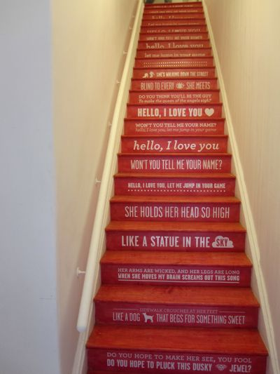 I want to do this to my staircase!