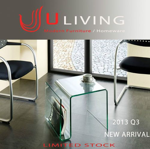 $199 eBay U Living 5SHAP Bent Glass Side Table Coffee Table Brand NEW Limited Stock | eBay