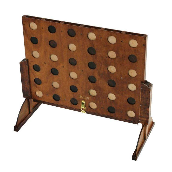 The oversize outdoor wooden version of Score Four, great for backyard fun!