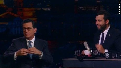 "During a visit to a Russian talk show, ""The Late Show"" host Stephen Colbert announced that he will be running for president in 2020."