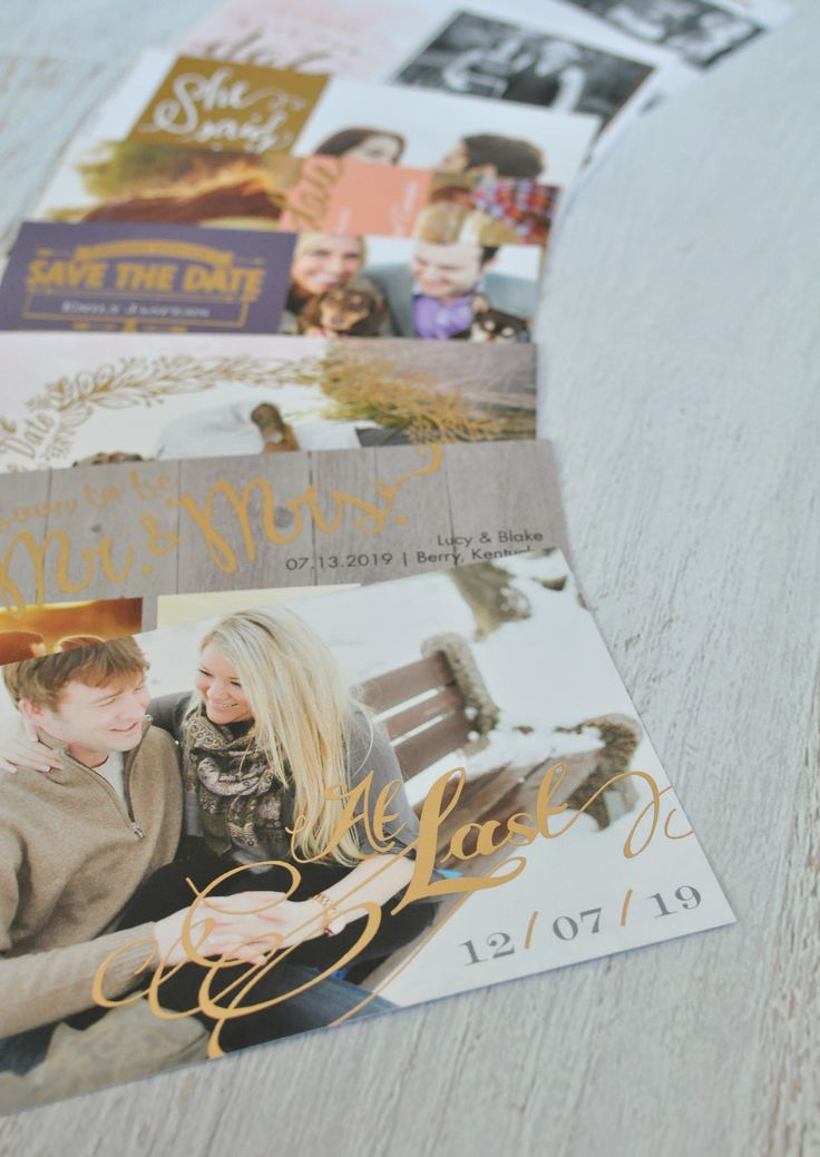 Foil Save the Dates Collage – Make your date SHINE with foil-stamped Save the Dates