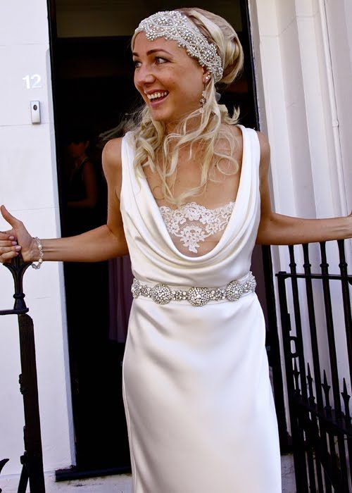 Cowl Neck With Lace Wedding Dress Love The Front Of This Dress