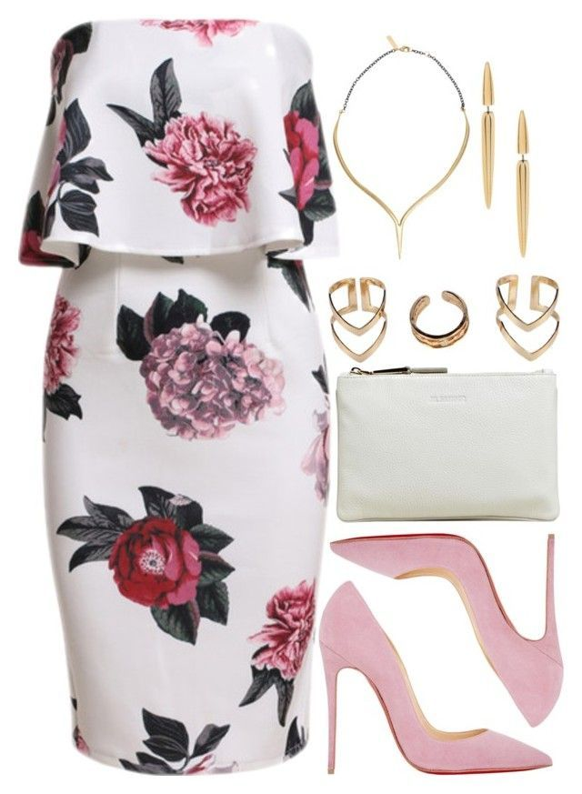 """1076."" by adc421 ❤ liked on Polyvore featuring Jil Sander, Christian Louboutin, Boohoo, K/LLER COLLECTION, Shaun Leane, women's clothing, women, female, woman and misses"