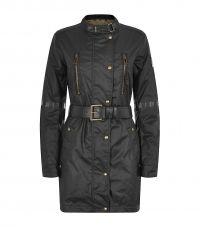 Black Babington Waxed Cotton Jacket