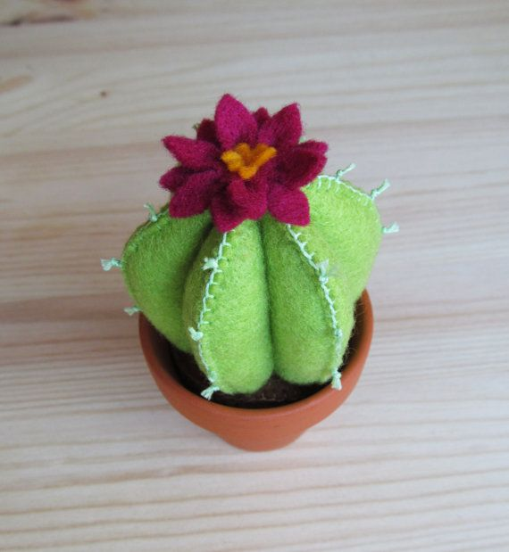 Little Felt Cactus by StayTrueEmbroidery on Etsy