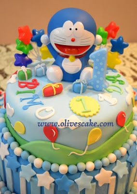 Olive's Cake: Doraemon Birthday Cake and Cupcake