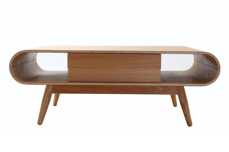 Table basse scandinave bois naturel BALTIK - Miliboo