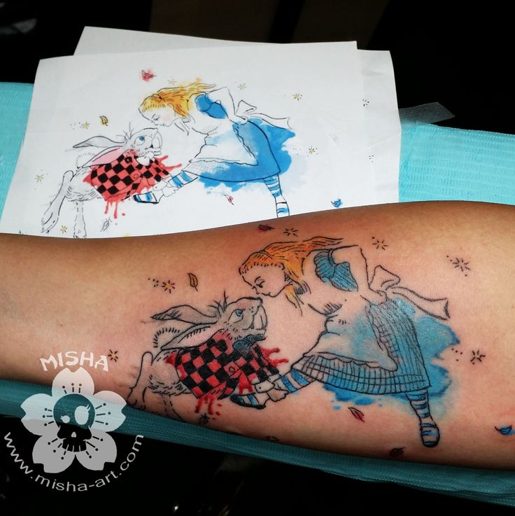 9 best misha 39 s tattoos watercolor designs images on for Rabbit tattoo kit