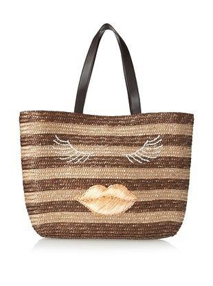 59% OFF Felix Rey Women's Kissy Face Basket Tote, Brown Stripe/Ballet