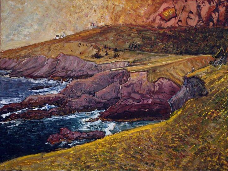 Golden Evening, Cape Spear, 36x48