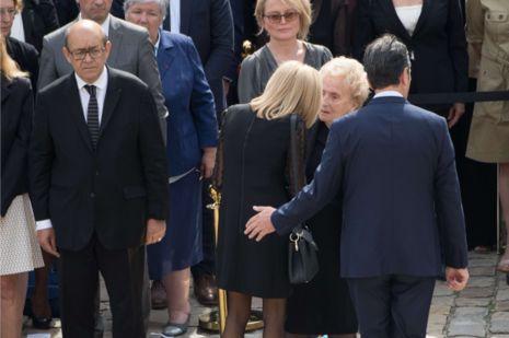 Brigitte Macron et Bernadette Chirac à l'hommage rendu à Simone Veil aux Invalides, le 5 juillet 2017.
