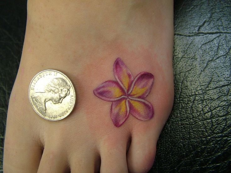 Small Lily Tattoo Design for Foot