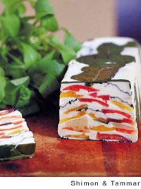 Arugula with Tomato Goat-Cheese Terrine by Marcus Samuelsson