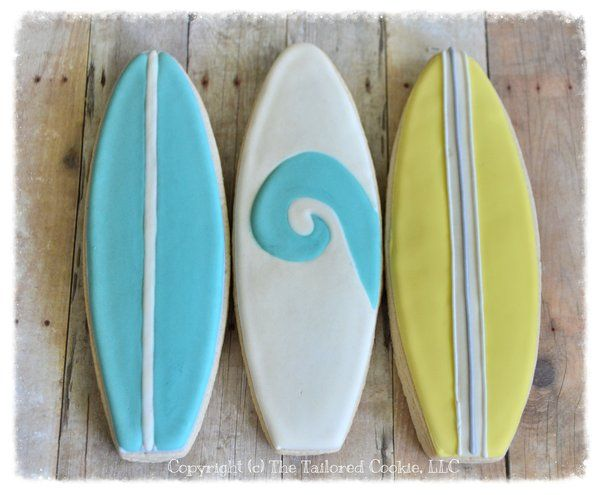 Surfboard Cookie Favors