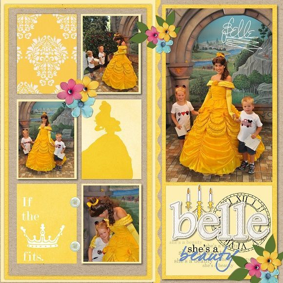 Belle Beauty and the Beast | Disney Scrapbooks | Disney Scrapbooking | Disney…