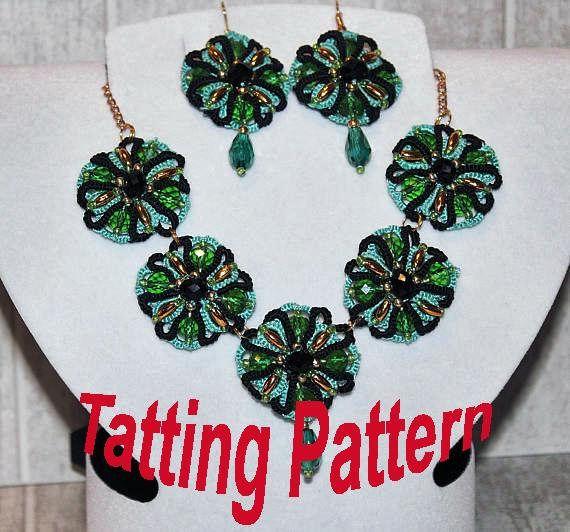 Tatting Pattern Earrings Pendant Tatting Necklace PDF Digital