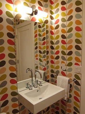 Orla Kiely multi stem wallpaper.