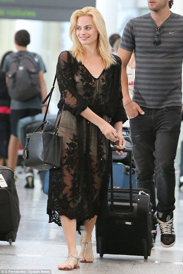 What a beauty! Australian actress Margot Robbie touched down in Toronto, Canada, on Monday...