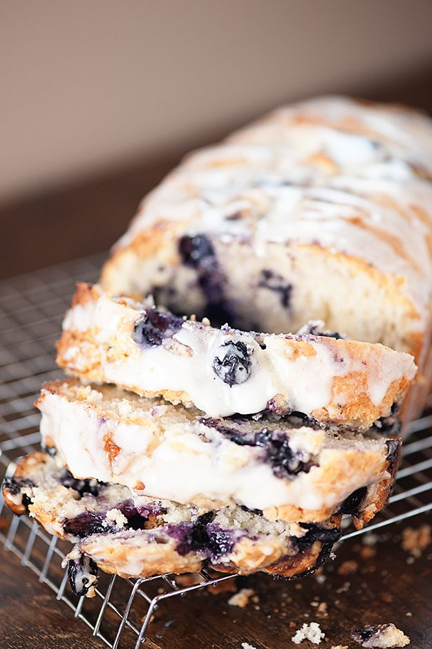 This blueberry bread recipe is so soft and moist and just loaded with fresh blueberries! It is like the best blueberry muffins you'll ever try, but in bread form.