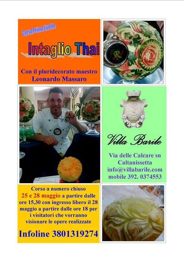 Corso di Intaglio Thai a Villa Barile - Caltanissetta con il Maestro di Academy Ristoworld Leo Massaro