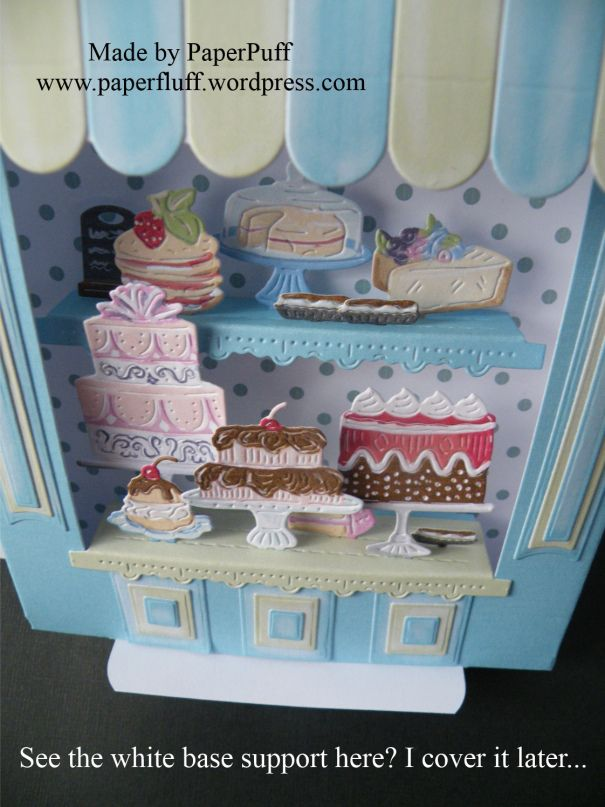 cake shop | PaperPuff & 36 best Cards ~ Tattered lace dies retail therapy images on ...