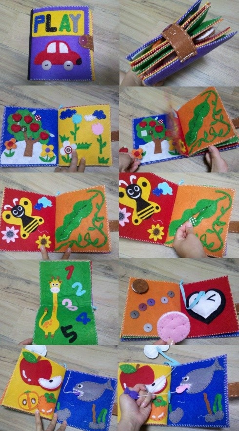 Felt books are a great craft idea; there are so many options! You can get all the felt you need at www.hyglossproduc...