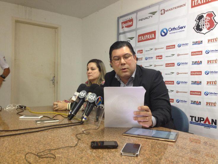 Cumpriu? Lembre as promessas de Alírio Moraes ao assumir Santa Cruz #globoesporte
