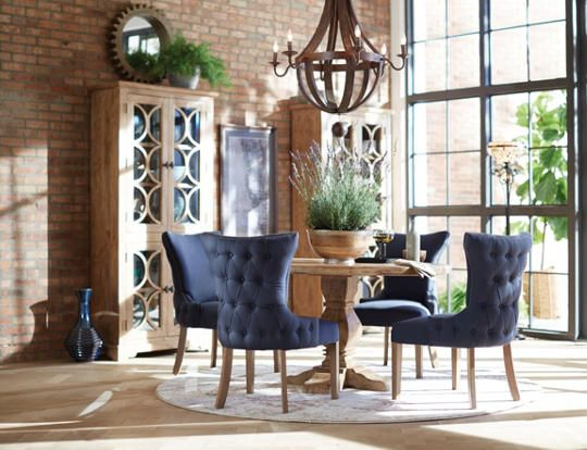 Round San Rafael Table   This Beautiful Solid Mango Hardwood Round Table Is  A Showstopper With. Parsons ChairsArt VanDisplay ...