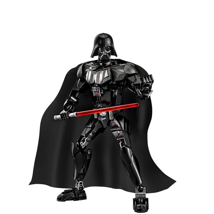 Feel the power of the dark side with LEGO Constraction Star Wars: Darth Vader! This buildable LEGO version of iconic Sith Lord Vader has all the details you'd expect, including fully posable limbs, black armored suit, fabric cape, and a buildable red Lightsaber. Harness the power of the dark side and prepare for intense action play!  • Pose Lord Vader like never before and replay the final epic battle of Star Wars: Episode VI Return of the Jedi with 75110 Luke Skywalker (sold separately).