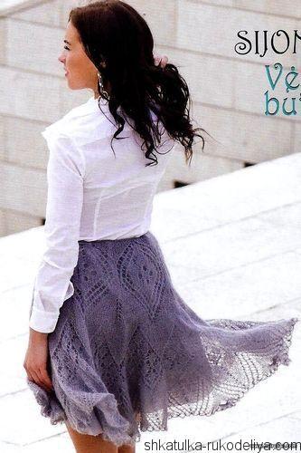 Ажурные юбки спицами со схемами фото 242