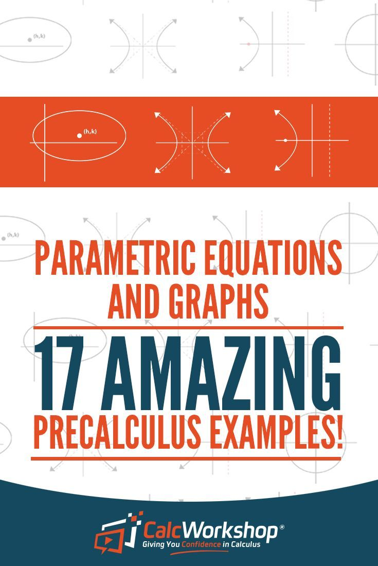 Parametric Equations in Math - TERRIFIC video lesson on the characteristics of parametric graphs.  Learn how to sketch, represent, form an equation, and write out these problems. With 17 step-by-step examples, it's a great review if you're new to teaching this topic. Perfect for high school and middle school math courses as well. Check it out today! #homeschool #precalculus