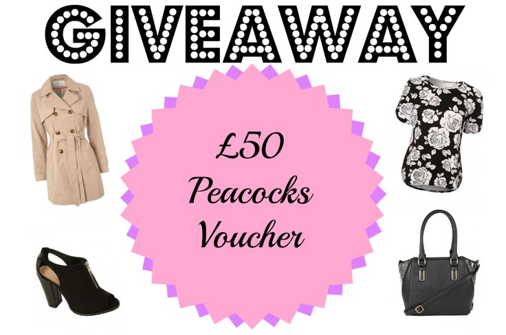 GIVEAWAY | £50 PEACOCKS VOUCHER