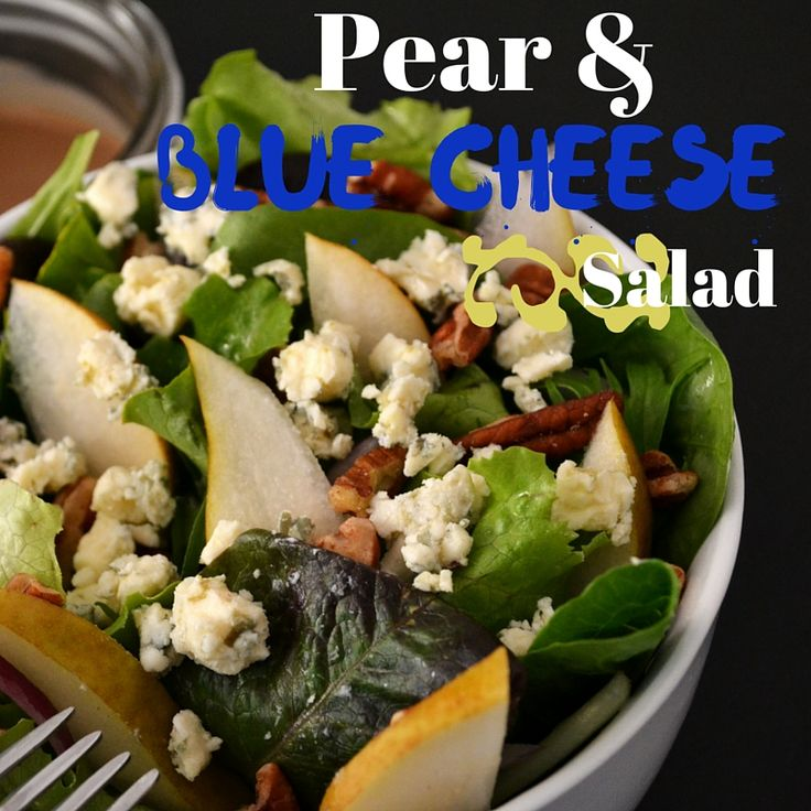 A Salad with a bite! And the blue cheese adds a pleasant kick.
