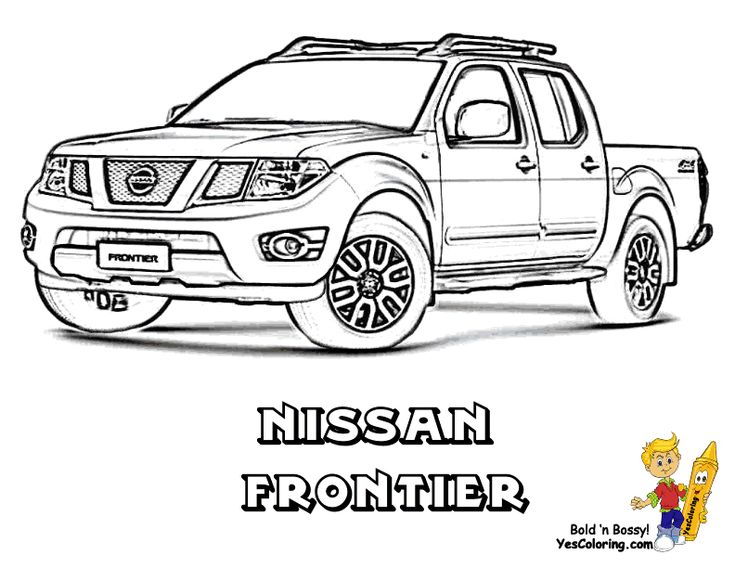 8 best coloring pages  trucks images on pinterest