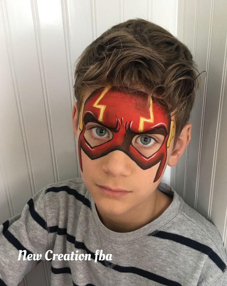 One Stroke deluxe Flash face paint by Jenn Sweeney