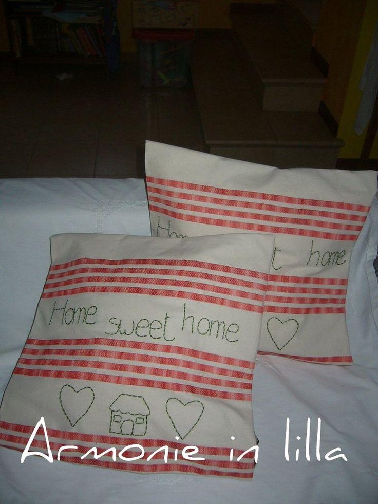 Federe cuscino ricamate, by Armonie in lilla, 17,00 € su misshobby.com
