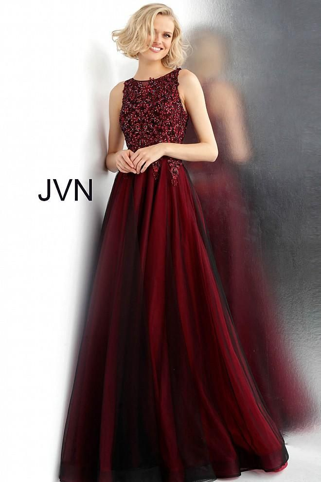 Jvn By Jovani 67782 Wine Size 18 Prom Dress Pageant Ball Gown Embellished Ball Gowns Ball Dresses Prom Dresses Ball Gown