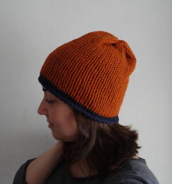 OFERTA Gorro básico sombrero de lana grueso voluminoso / bulky chunky slouchy hat, hand knitted