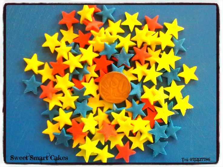 20g medium edible stars @ R15 per packet For orders & info, email SweetArtBfn@gmail.com or call 0712127786 (Bloemfontein, South Africa)