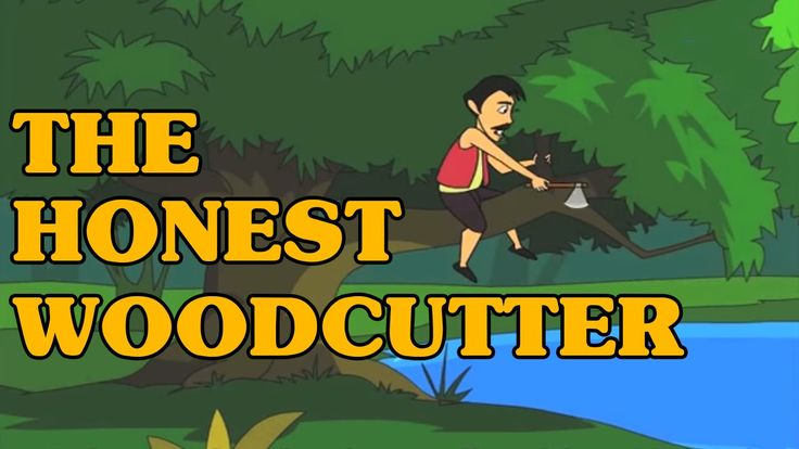 The Honest Woodcutter - Classic Short Stories for Kids (With Text)