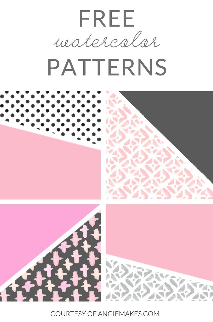 Enjoy these FREE Watercolor Patterns. Hand Painted With Love, These Free Watercolor Patterns are Seamless and Would Look Great on Blogs + Websites + More!