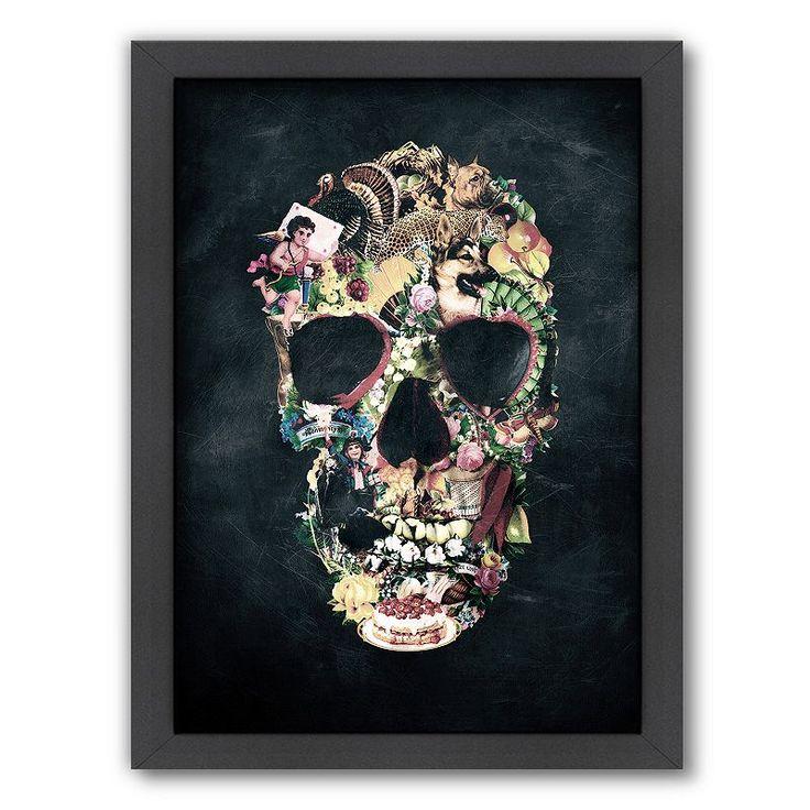 череп из цветов постер рак легких