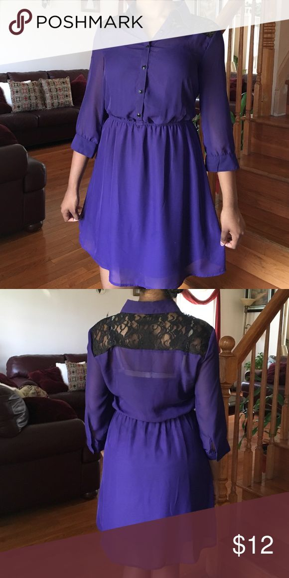 Love reign dress Lace shoulders with an attached purple slip underneath. Love reign Dresses