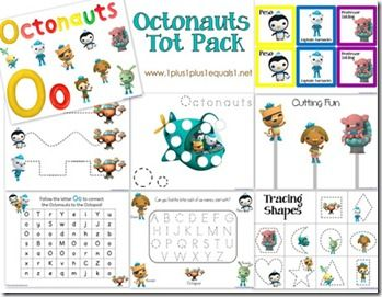 Octonauts Tot Printables - lots of ocean printables
