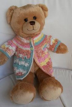 Lyn's Dolls Clothes: Teddy bear crochet jacket