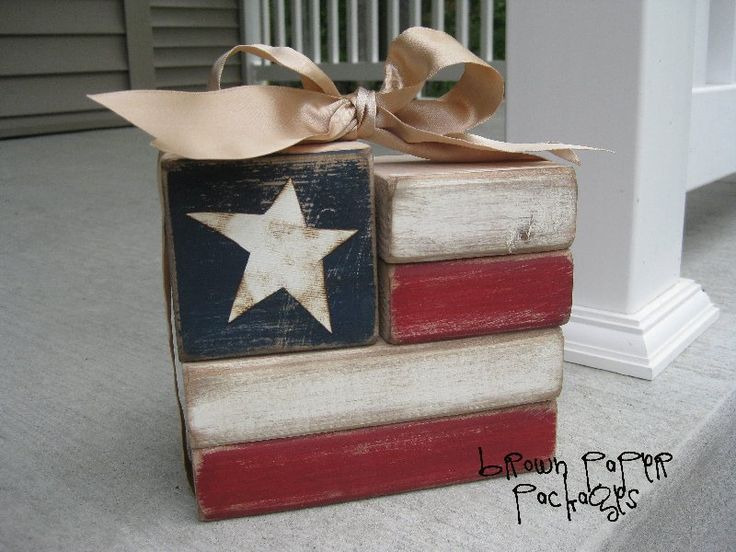 brown paper packages: {flag blocks} - these are the actual instructions, with measurements and all!