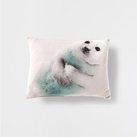 SEAL PRINT CUSHION - Cushions - Bedroom | Zara Home Australia