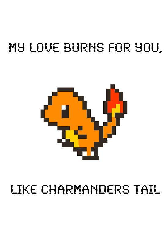 pokemon valentines love geek charmanda