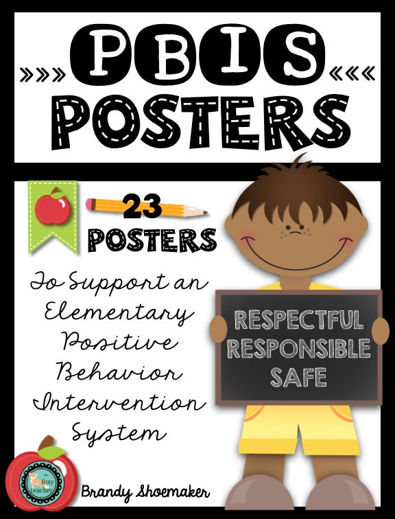PBIS FREEBIE!!! Free posters for implementing positive behavior interventions and support in the elementary school.